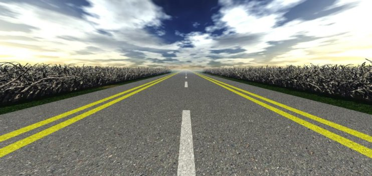 Straight road is not easy