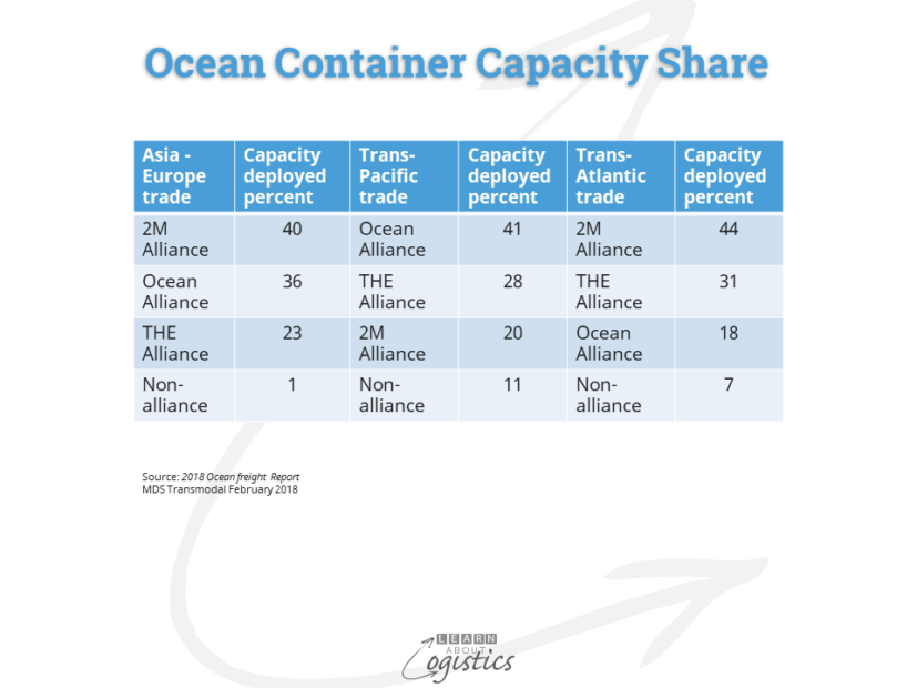 Ocean Container Capacity Share
